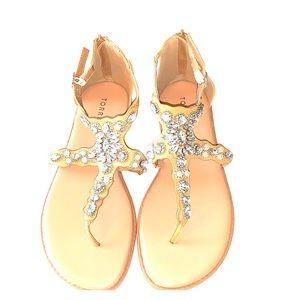 Torrid jeweled sandals zip up back NWOT size 9.5